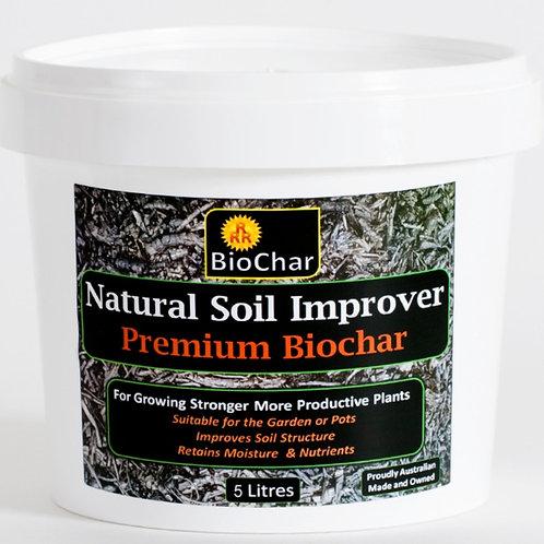 5 Litres of Premium Biochar - Postage Included (Australia)