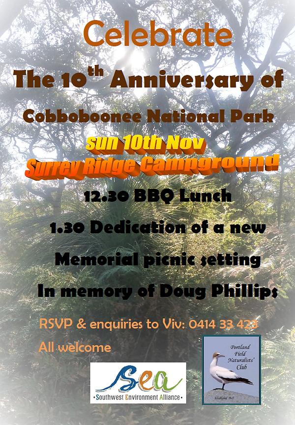 Cobboboonee National Park Celebration.pn