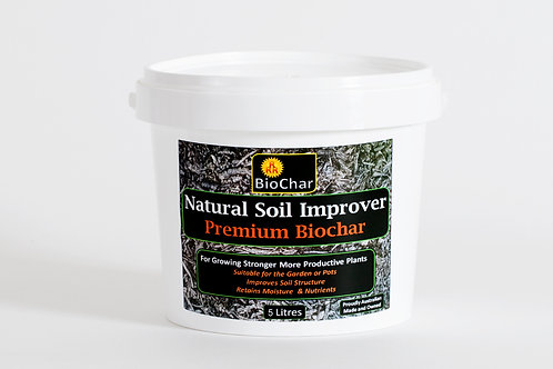 5 Litres of Premium Biochar - Postage Included (Australia)