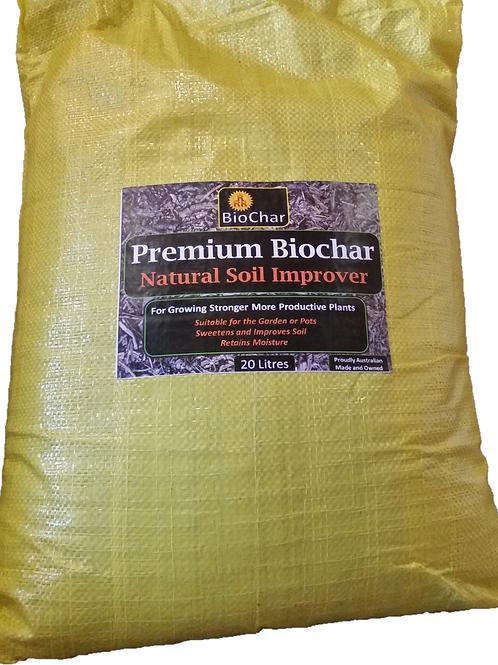 20 L Premium Biochar(Includes Delivery to NSW, ACT, VIC, SA & TAS)