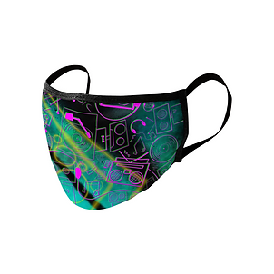 Neon Nights Face Mask by That5280Lady