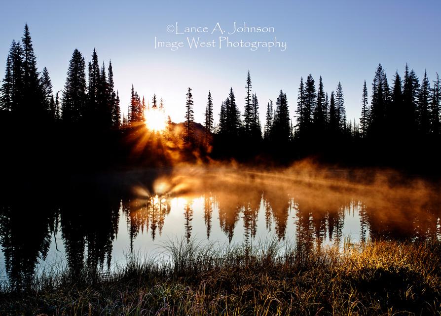 Reflection Lake at Sunrise, Mt Rainier N