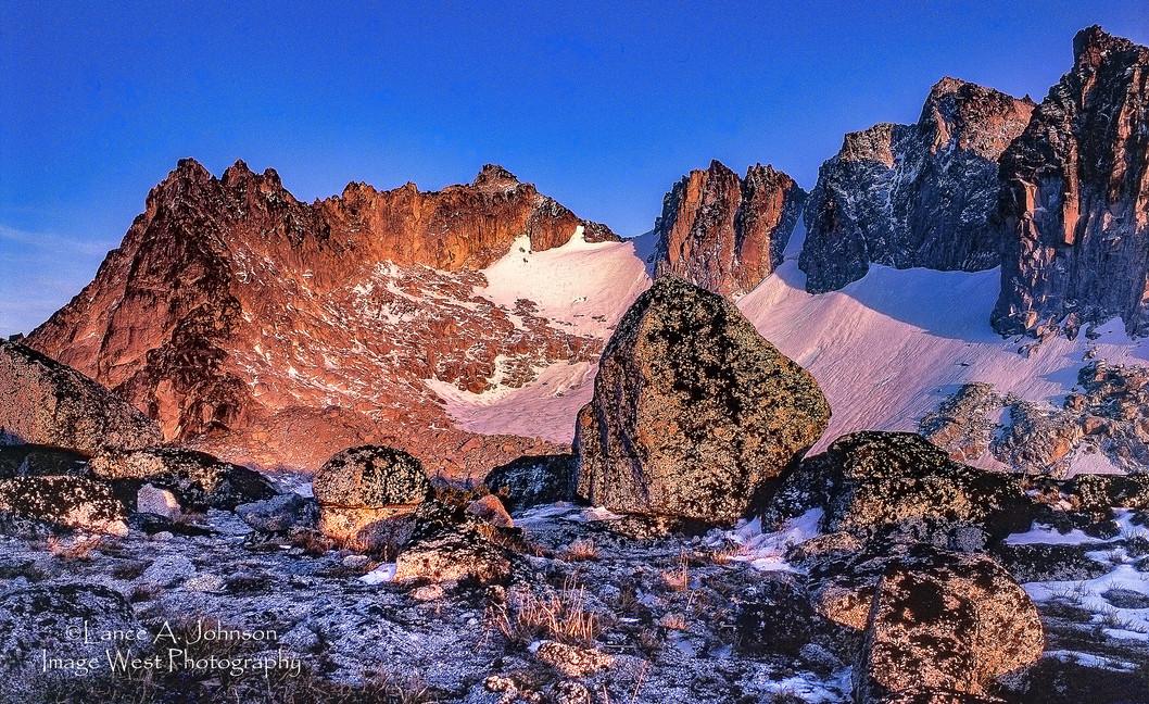 Dragon Tail Peak Sunrise, Alpine Lakes W