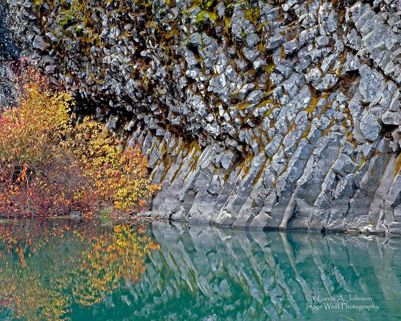 Basalt Outcrop along the Naches River WA
