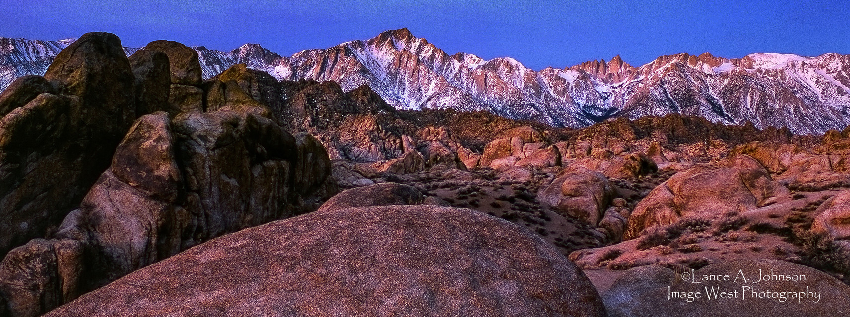 Sunrise with Lone Pine APeak and Mt. Whi