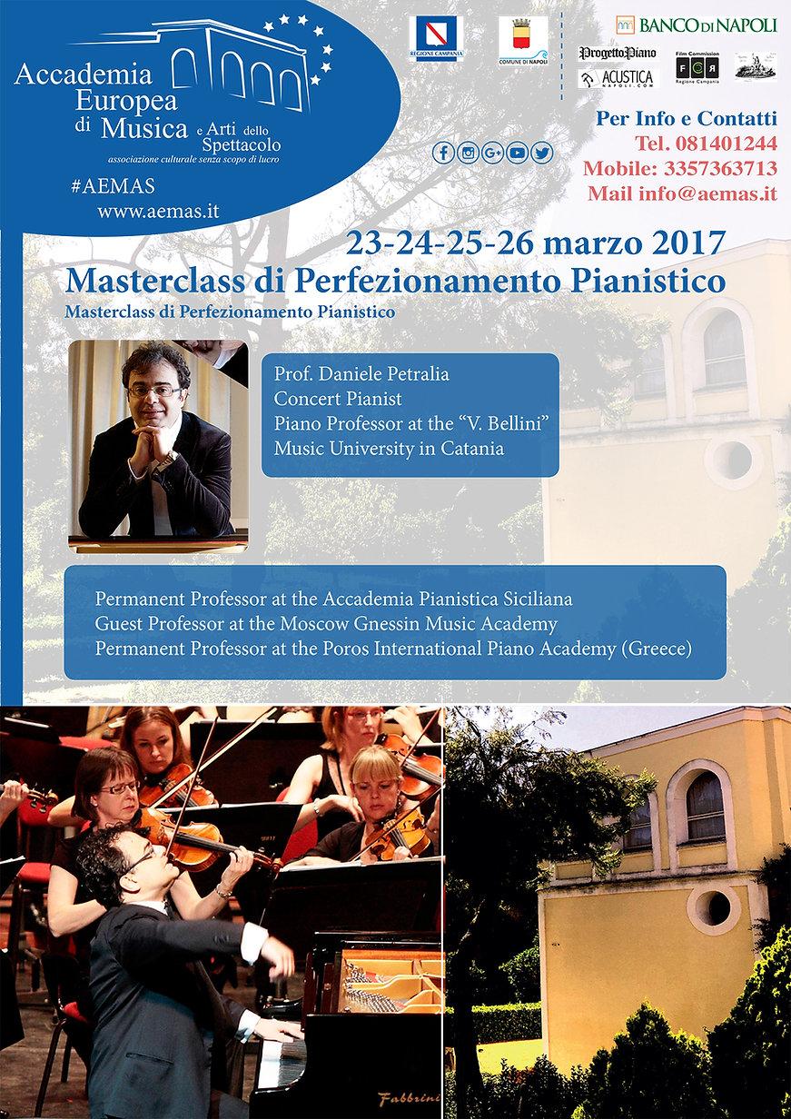 Daniele Petralia Corso di Alto Perfezionamento Pianistico Accademia Europea AEMAS