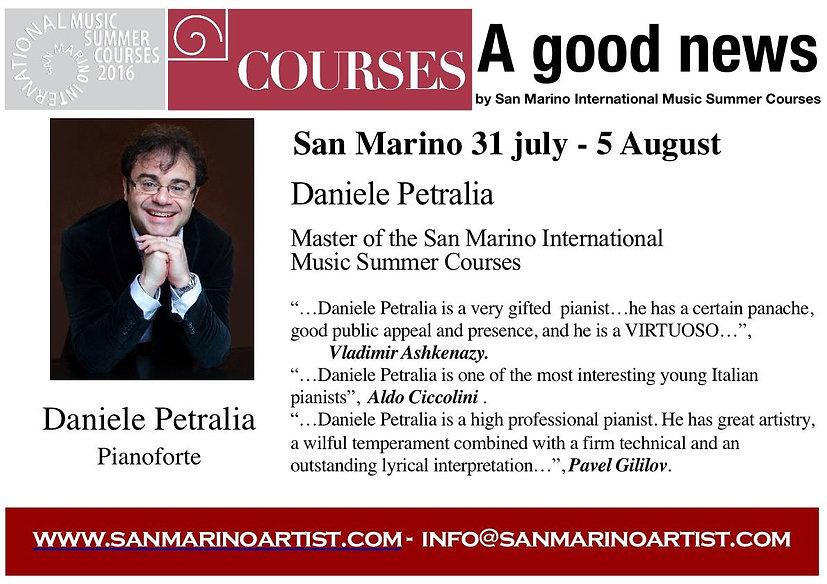 Daniele Petralia Master Class in San Marino