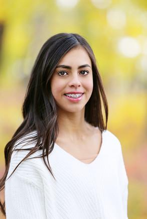 Young woman in Calgary having portrait taken