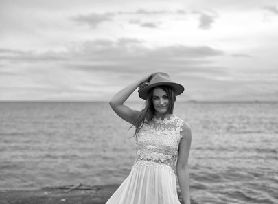 Victoria Bride Near Ocean