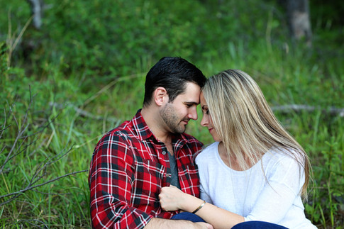 romantic moment in the grass