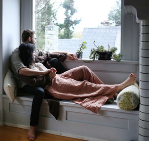 victoria couple looking at rain