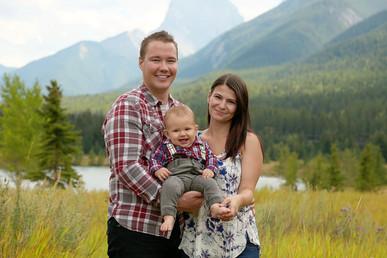 Man, Woman and Baby at Quarry Lake