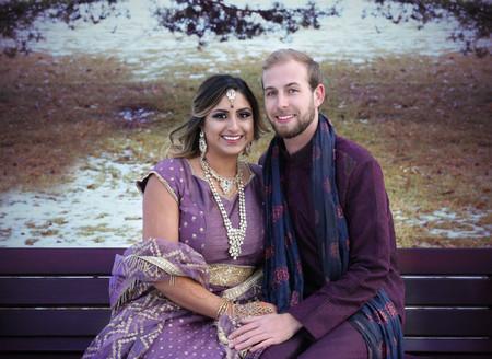 Bride and Groom in Calgary Park