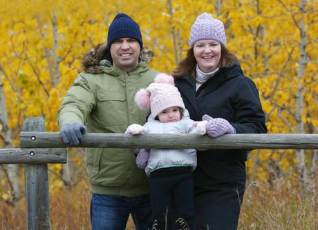 Family photos at Weaselhead