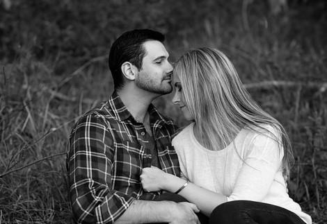 romantic couple in the grass