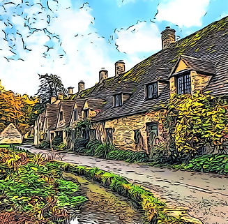 Bibury The Cotswolds Greeting Card