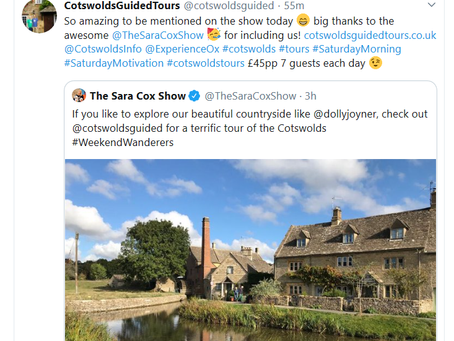 Cotswolds Guided Tours - Sara Cox Show!