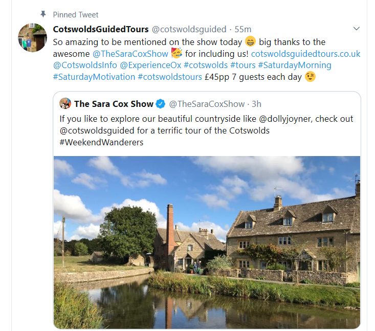 Cotswolds Guided Tours | Cotswold Tours | Sara Cox Show