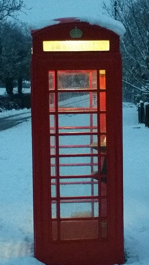 Cotswolds Snow Village Telephone Box