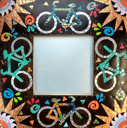 recycled beer can bicycle mirror art