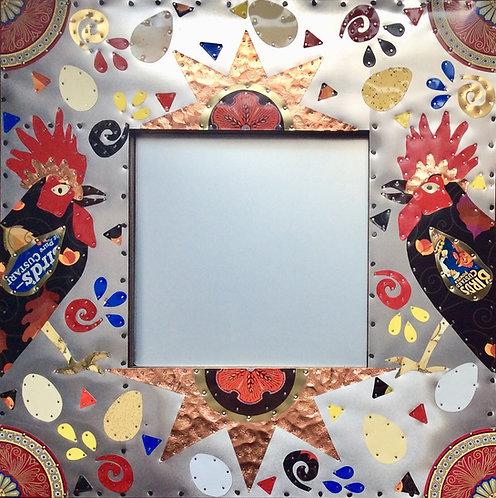 Roosters sunburst kitchen farmhouse mirror