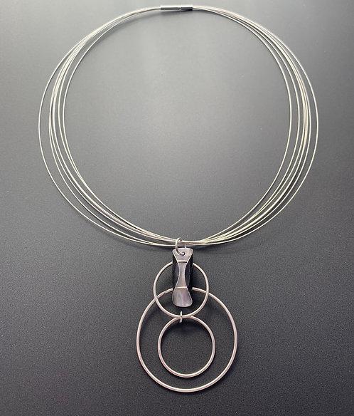 Orbiting Satellite  Necklace