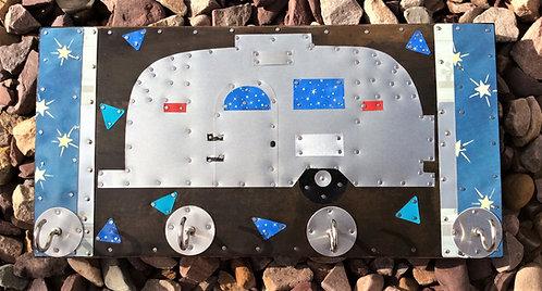 upcycled tin bambi airstream art hooks