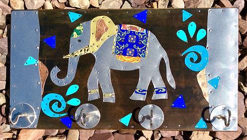 salvaged tea tin elephant hooks jewelry