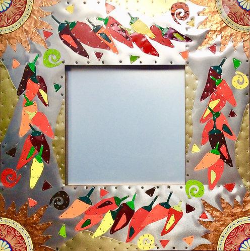 chili pepper sun mexican tin kitchen mirror