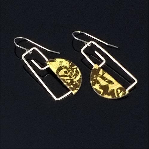 japanese language script earrings