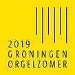 Logo Groninger Orgelzomer zwart op geel.