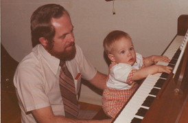 First Piano Lesson with Dad