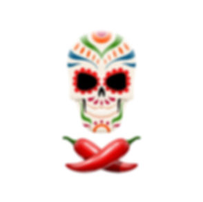 decorated-sugar-skull-and-crossed-chili-