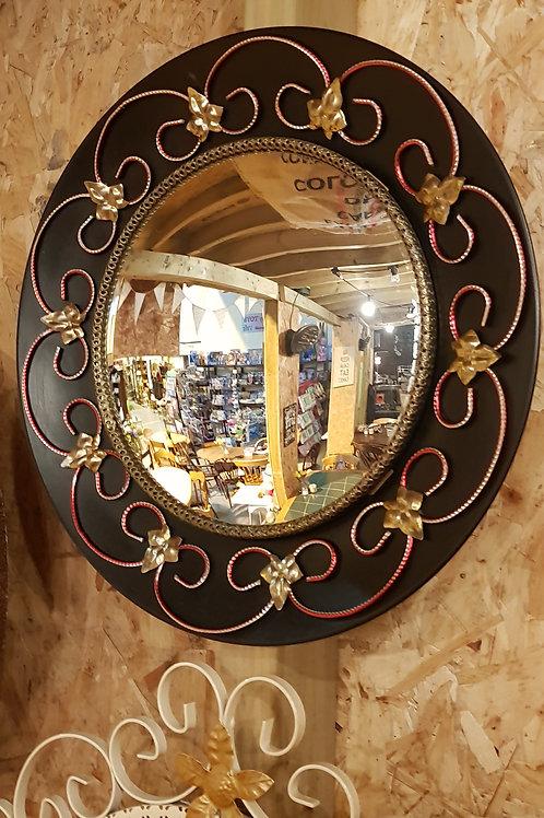 1970s Concave Hall Mirror