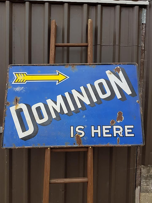 Vintage Dominion Enamel Sign