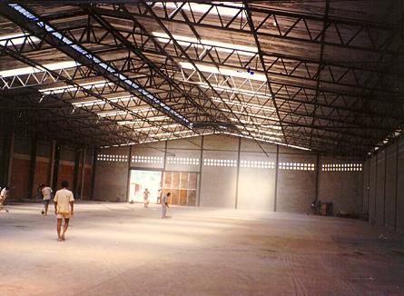 1992 – Construção do Galpão de Armazenagem de Lubrificantes - Texaco