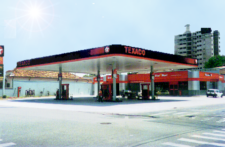 2000 – Construção da cobertura metálica e revestimento em ACM do Posto Carolina Florence