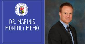 Dr. Marinis Monthly Memo - September 2020
