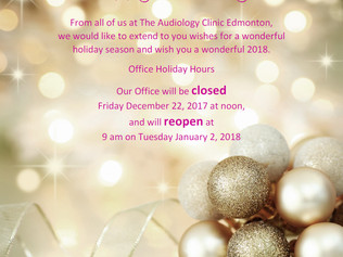 Happy Holidays, Holiday Hours