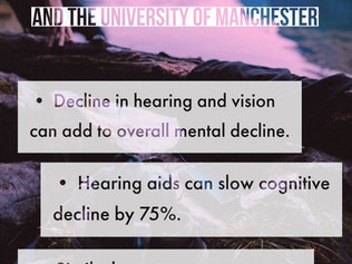 Cognitive Decline, and It's Connection to Hearing and Vision