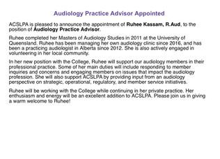 Audiology Practice Advisor