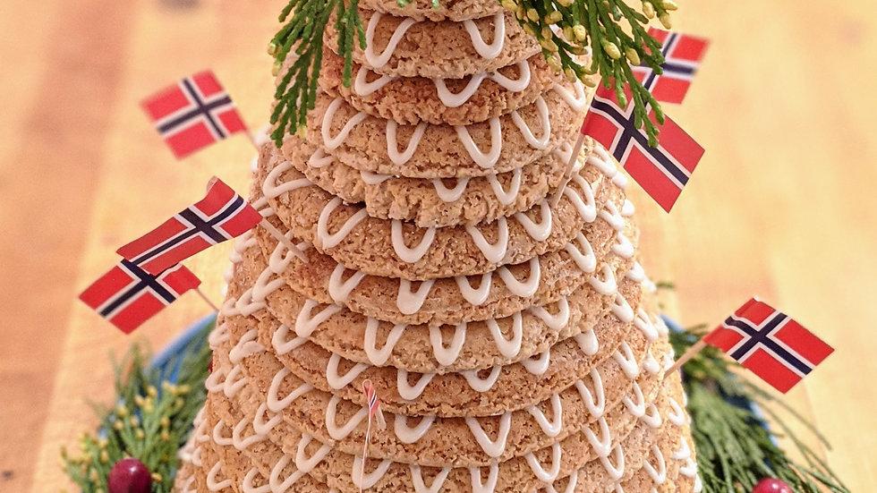 Kransekake - decorated cake