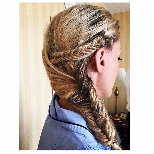 Fishtail Braids • 🌷🌷🌷_#weddingseason