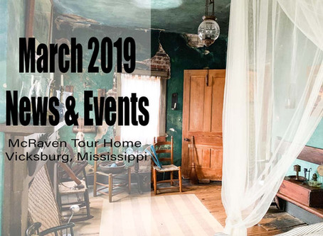 March 2019 News and Events: McRaven Tour Home