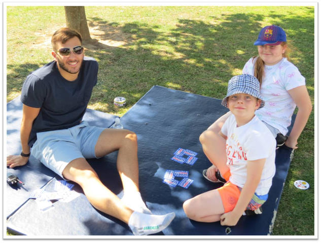 Harrison & Parsons learning Card Tricks in the shade