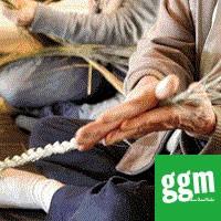 【ggm】米袋と藁縄でエコバッグ作り