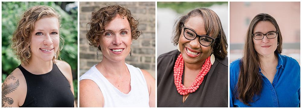 Headshots of 4 educators smiling at the camera