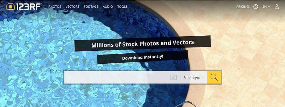 123rf stock photos website review