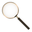 FindHer Logo Symbol Magnifying Glass Gol