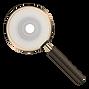 FindHer Logo Symbol Magnifying Glass Gol